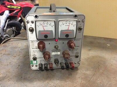 Power Designs Transistorized Twin Power Supply Model Tw-4005 Tested And Working