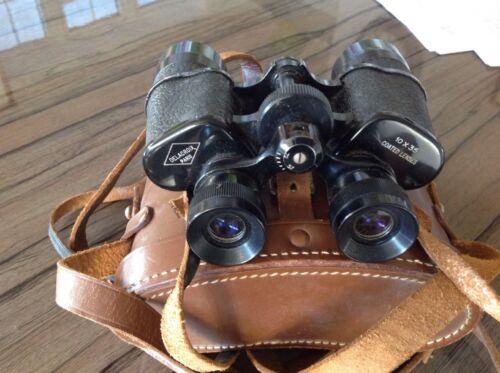 DELACROIX PARIS 10x35 Binoculars - Coated Lenses and Brown Leather Case