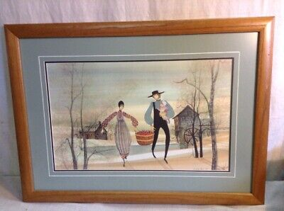 ORIGINAL P. BUCKLEY MOSS 1988 HAND SIGNED AND NUMBERED FAMILY HARVEST FRAMED PRI for sale  Grand Rapids
