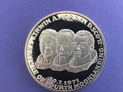 Silber Medaille Apollo 15 Scott Worden Irwin 30.7.1971