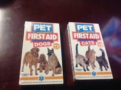 Pet Emergency First Aid - Cats And -Dogs, (VHS, 2004), New And Sealed