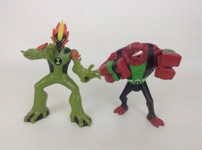 "Punching Four Arms & Swampfire Ben 10 Omniverse 6"" Figure Bandai 2012 Alien"