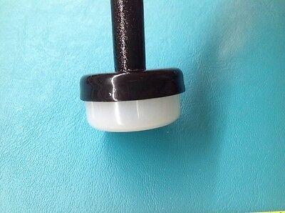 "16 New 1 1/4"" Plastic White Wrought Iron Patio Chair Leg Ins"