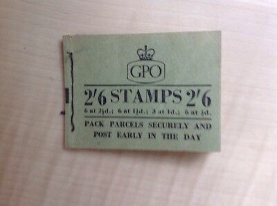 Great Britain Stamp Booklet 2/6 January 1957 F50 Complete