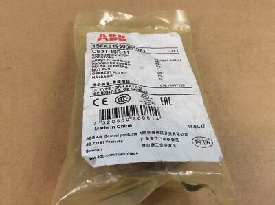 ABB type red twist release scram button CE3T-10R-11   NEW IN BAG