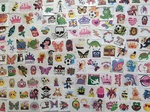 100 Boys And Girls Temporary Tattoos - Childrens Party Loot Bag Fillers