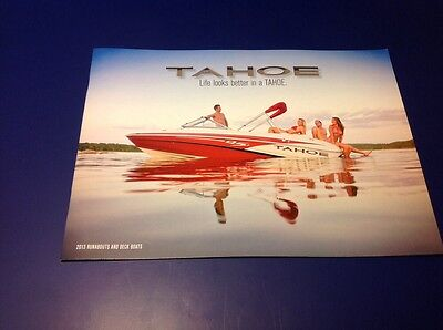2013 Tahoe Runabout Deck Fishing Boat Catalog Brochure Book Ski Q4 Q5 Q7 195 215