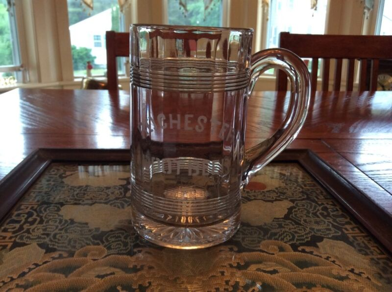 Antique Rochester Root Beer Glass Echted Mug