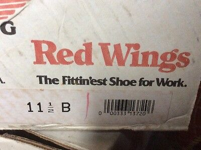 Men's Red Wing Shoes  Black Size: 11 1/2 B Brand new in box!