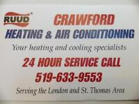 Furnaces from $1950 installed.  sales and service  St. Thomas
