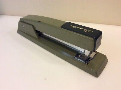 Vintage Desk Stapler Swingline 474 Avocado Green Metal Retro Office Usa Clean 1