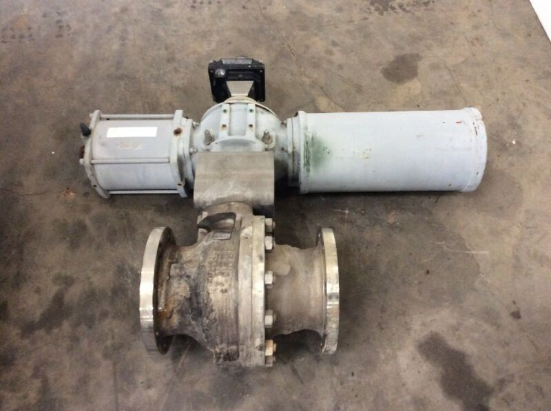 "FLOWSERVE ARGUS 6"" SS ACTUATED BALL VALVE Class-150 (Air To Open)"