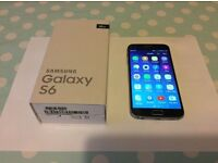 SAMSUNG GALAXY S6, 32GB BLACK, FACTORY UNLOCKED,IMMACULATE CONDITION,BOXED AS NEW