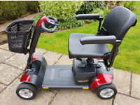 'Go-Go Elite Traveller Sport' mobility scooter. Quick & easy to dis/re-assemble - no tools required!