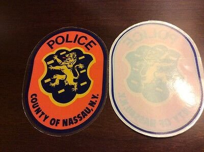 Nassau County police  inside the window decal sticker long island