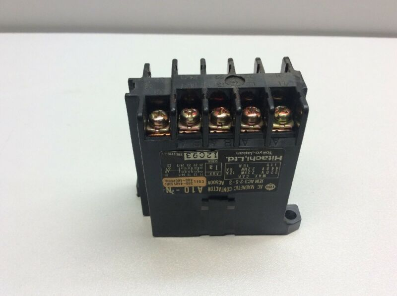 Refurbished Hitachi AC Magnetic Contactor, A10-N, Model: JEM AC3.2.5-3