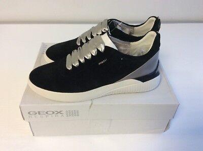 Geox Damen D Theragon C Sneaker Schuhe Schwarz Gr. 38  AR