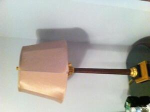 Tall table lamp silk shade- lampe de table