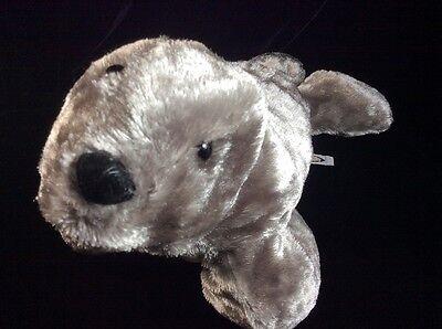 Mary Meyer Gray Seal Plush Soft Toy Shiny Stuffed 19
