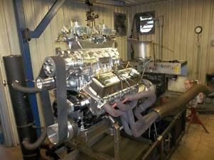 Big Block Chevy 540 Complete Super Charged Engine  $21,000 U.S.