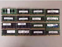 a bundle of 1gb + 2gb, ram sticks for laptops and desktops