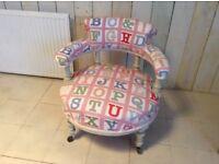 Bespoke Stunning Victorian Shabby Chic Girls Nursery Chair Nursing Chair