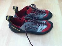 Looking to trade for smaller climbing shoes.