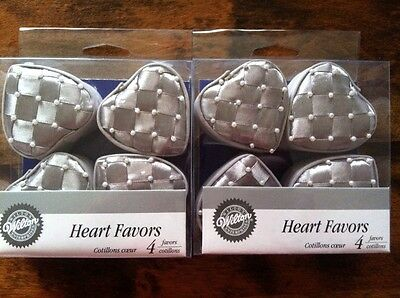 SET of 8 Wilton Heart Shaped Favor Boxes - Holds Treats for Your Wedding Guests - Wedding Treats