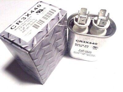 3 Mfd Run Capacitor Oval Uf 440 V Vac Volts Ac Electric Motor Hvac 370