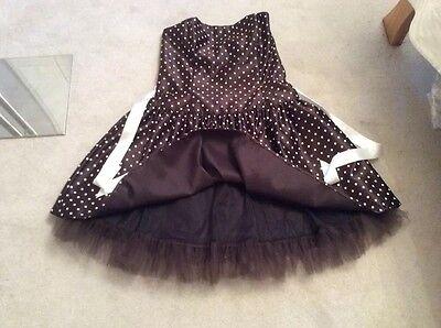 Jessica mcclintock gunne Sax black Polka spotty cocktail RA 50s dress L 17 18