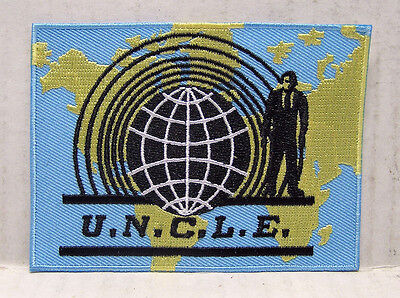 Uncle Man From Uncle Logo 3 75  Embroidered Patch  Mupa 001
