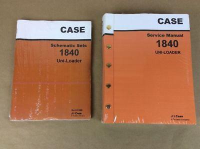 Two Case 1840 Uni-loader Skid Steer Service Repair Manual Schematic Shop Loader