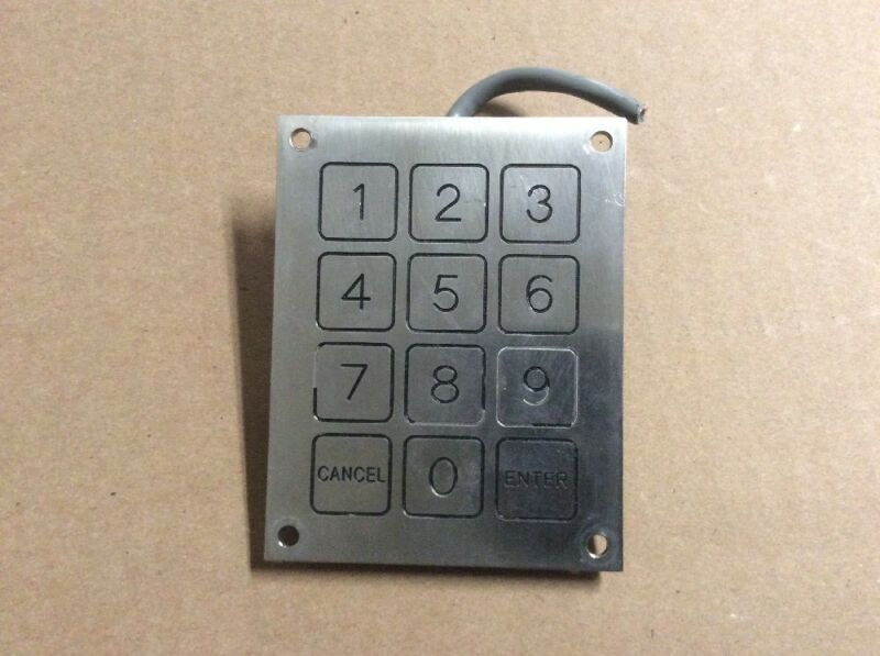 Everswitch KBA11 Piezoelectric Outdoor Touch Stainless Keypad 24V .2A