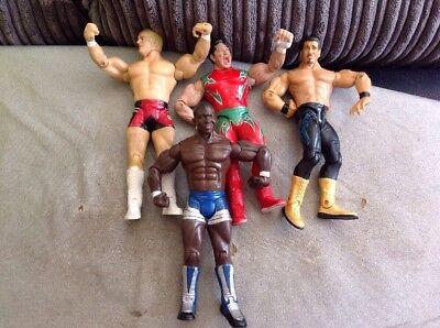 WWE figures bundle WWF Super Crazy,Guerrero,hardcore Holly ,Shelton Benjamin