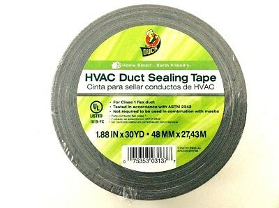 2 Rolls Duck Brand Hvac Duct Sealing Tape Silver 1.88 Inch X 30 Yards 2 Pack