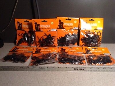 BLACK Party Favors CREEPY CREATURES Bag Fillers HAPPY HALLOWEEN Bugs Rodents ant](Halloween Party Bag Fillers)