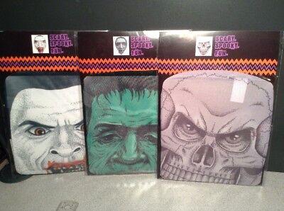 HALLOWEEN SKIN MASK SPOOKY SCARY VAMPIRE DRACULA FRANKENSTEIN SKULL SKELETON - Frankenstein Halloween Mask
