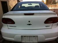 Chevrolet cavalier trunk lid and lights