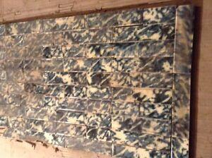 Set Of Vintage Victorian ANTIQUE FIREPLACE Hearth Tile Tiles Majolica Green Blue