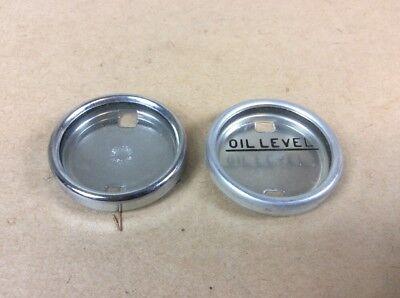 2 Vintage Machine Oil Gage Sight Glass Gage Oil Level  Steampunk New