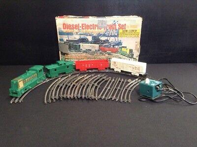 Luis Marx Diesel-Electric Train Set With Tracks & Transformer, In Original Box for sale  Brazoria