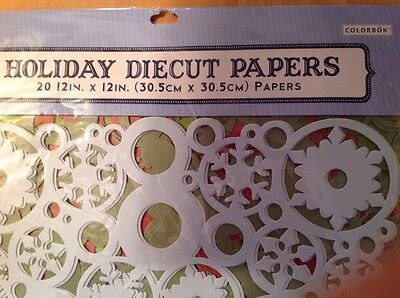 20 COLORBOK CHRISTMAS/HOLIDAY DIECUT PAPERS 12 X 12