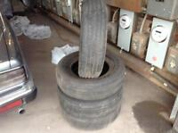 FOUR SUMMER TIRES FOR SALE. 215 70 R 15