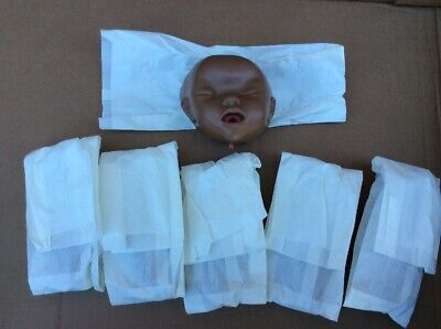 New 6x Laerdal Replaceable Baby Anne Manikin Face African Black Skin 050202