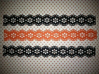 10 MARTHA STEWART BLACK & ORANGE HALLOWEEN DOILY BORDERS DIE CUTS PUNCHES  - Orange Halloween Punch