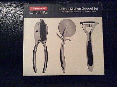 Typhoon Living 3 Piece Kitchen Gadget Set - Can Opener, Pizza Cutter & Peeler Typhoon Kitchen Gadgets