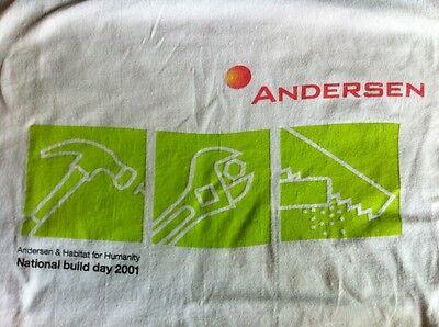 Arthur Andersen Habitat For Humanity Shirt Size Large Used