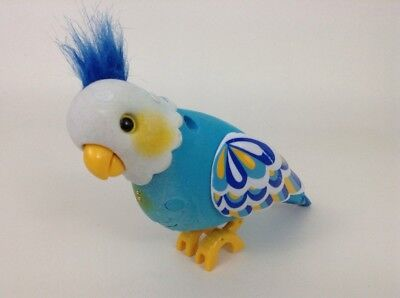 Little Live Pets Clever-Keet Blue Talking Electronic Pet Bird Moose w Batteries