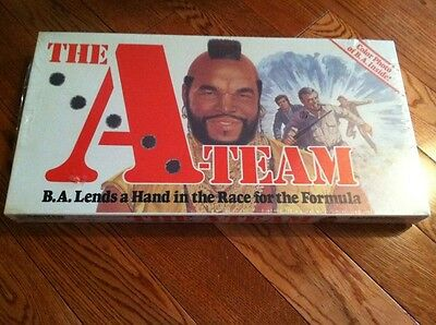 A Team Board Game - RARE *FACTORY SEALED* NM UNUSED 1984 TV A-TEAM MR. T BOARD GAME RARE CONDITION!