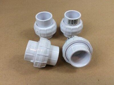 Lot Of 4  Lasco 1 Socket Pvc Union Sched 40 457010